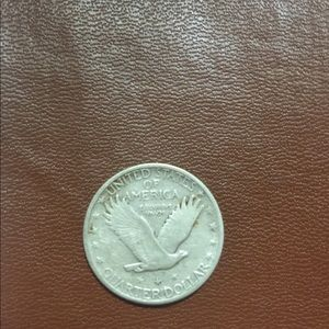 Used, 1928 standing liberty quarter dollar coin for sale